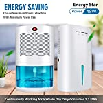 Gocheer upgraded dehumidifier for home,up to 480 sq. Ft dehumidifiers for high humidity in basements bedroom closet… 8 high effectively dehumidifier:comes with a 2000ml(68oz) water tank which can quickly and effectively remove up to 1000ml(34oz,temperature: 86 °f humidity: 80% rh) of moisture from the air per day. Keep your home comfortable and healthier all the time. Application area:up to 480 sq. Ft,this household portable small dehumidifier is widely used in all kinds of scenes such as your home,bathroom,living room,bedroom,closet,kitchen,which can efficiently meet your daily needs for removing moisture. Upgraded energy saving:compared with bulky compressor dehumidifiers,our compact home dehumidifier equips with semiconductor condensation technology which can ensure maximum water extraction with minimum power use.