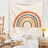 Tapiz nórdico arcoíris sol y luna elefante tapiz de pared tapiz de playa alfombra de fondo tapiz de tela A7 73x95cm