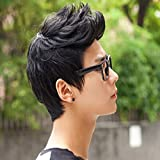 E Support Handsome Boys Black Short Wig New Vogue Sexy Korean Men's Male Hair Cosplay Wigs