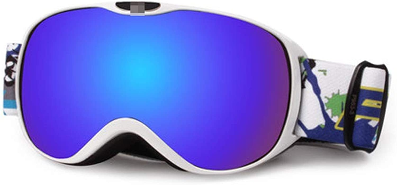 YJWOZ Ski Goggles Professional Anti-fog Double Ski Goggles Wind Goggles Ski Equipment Ski goggles (color   D)