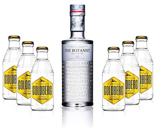 Gin Tonic Set - The Botanist Islay Dry Gin 0,7l 700ml (46{4c5ef7035dda568f5a8753a279b6b005a5e9b61705b49f6d2c5354a9d177373b} Vol) + 6x Goldberg Tonic Water 200ml inkl. Pfand MEHRWEG