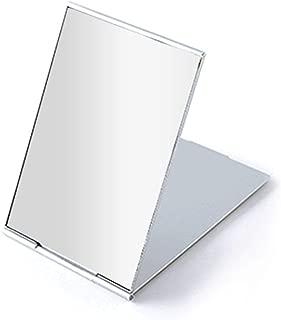 Portable Folding Mirror, Ultra-Slim Durable Makeup Mirror, Small Tabletop Mirror for Travel,Aluminum Shell, Mini Size, 4.5
