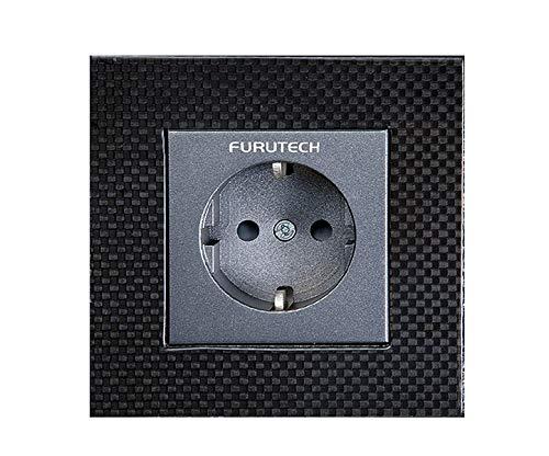 Furutech FT-SWS (R) Wandsteckdose Carbon Rhodium | Modell: FT SWS R | Kontakte: rhodinierte Kontakte