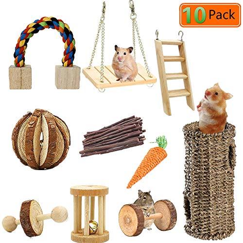 Lurowo Jouet de Hamster, 10 Accessoires de Jouet en...