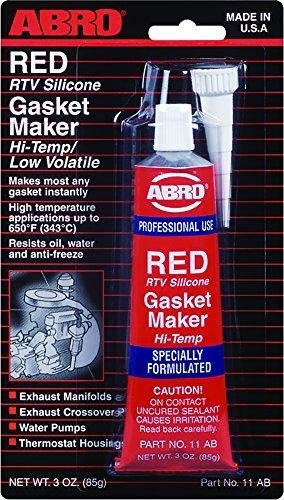 ABRO - Pasta Silicona Constructora de Juntas Color Rojo