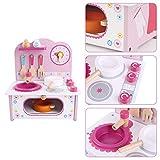Küchenspielzeug Kinderküche Topfset,Küchenspielzeug Zubehör Kinderküche Kochgeschirr Edelstahl Pfannenset Schürze Und Kochmütze Für Mädchen Und Jungen