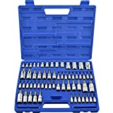 NEIKO 10083A Master Torx Bit Socket and External Torx Socket Set | 60 Piece | S2 and Cr-V Steel | Supreme Torque Output in a Complete Kit