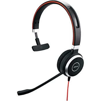 Jabra Evolve 40 MS Professional Wired Headset, Mono – Telephone Headset for Greater Productivity, Superior Sound for Calls and Music, 3.5mm Jack/USB Connection, All-Day Comfort Design, MS Optimized