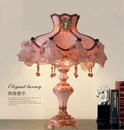 fadacai Top qualität Europäischen Spitze tisch lampe Luxus Dimmbare Prinzessin Tisch Lampe Viktorianischen Schreibtisch Lampe Floral Tuch Kunst + Harz + bronze