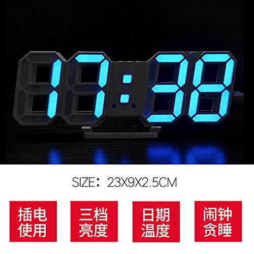 hlyhly kwartshorloge, stereo-klok, smart-temperatuur, creatief, 3D, Hollow LED Electronics.