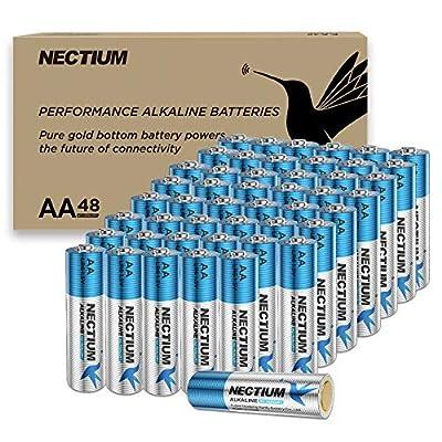 Amazon - Save 50%: NECTIUM Superior Performance AA Alkaline Pure-Gold-Bottom IoT Ba…