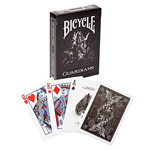 Bicycle Cards Unisex's Bicycle Guardians Playing Cards Deck, Black and...