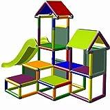 move and stic Spielturm Kletterturm Gesa mit Rutsche für Kleinkinder mit Kriechtunnel Mas (7 Farben...