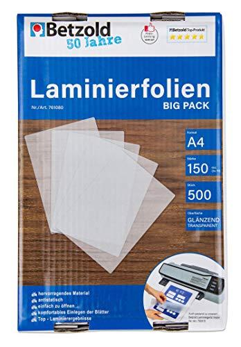 Compra 9448 - Laminier-Folien A4, 500 Stück im Big-Pack, 150 mic, glänzend - Laminier-Folie Laminiertaschen laminieren Din A 4