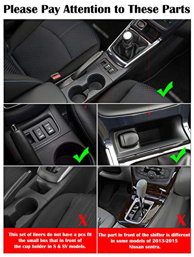 Auovo Anti Dust Mats for Nissan Sentra 2019 2018 2017 2016 Custom Fit Door Pocket Liners Cup Holder Console Mats Interior Accessories 15pcs//Set, Red