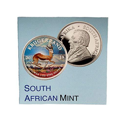 South African Mint Krügerrand 1 Rand als Farb-Edition 2019 mit Zertifikat
