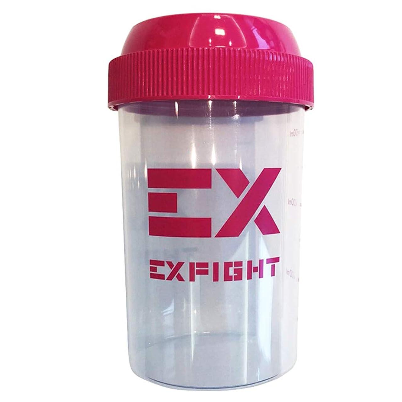 内部ダブル麻痺させるEX-SHAKER シェイカーボトル ピンク 300ml(エクスサプリ EXSUPPLI シェーカー EXILE サプリ)