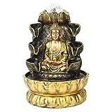 CHENSHUN Fuente de la Bola de Cristal Fuente de Escritorio Decoración Buda Fluye Ornamento del Agua con la luz y la decoración de la Bola for la decoración casera (Color : EU Plug 220V)