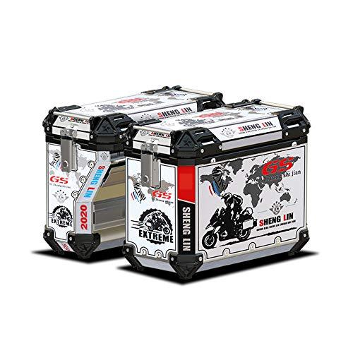 43L Motocicleta Topcase Maleta Baúl para Motos Caja Almacenamiento para Casco Caja...