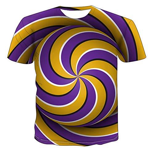 SSBZYES Camiseta para Hombre Camiseta De Manga Corta para Hombre Camiseta Casual para Hombre Camiseta Estampada Diseño De Personalidad 3D Camiseta Estampada Geométrica Top De Moda