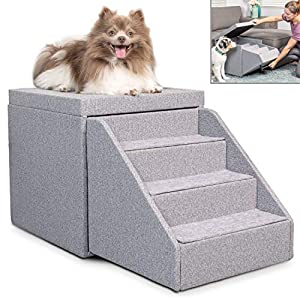 PetFusion Hybrid Pet Furniture | Foldaway Dog & Cat Steps...
