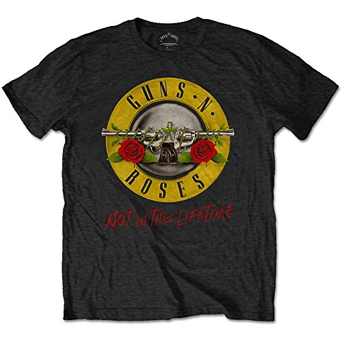 Guns & Roses Guns N' Roses Not in This Lifetime Tour with Back Print Camise...