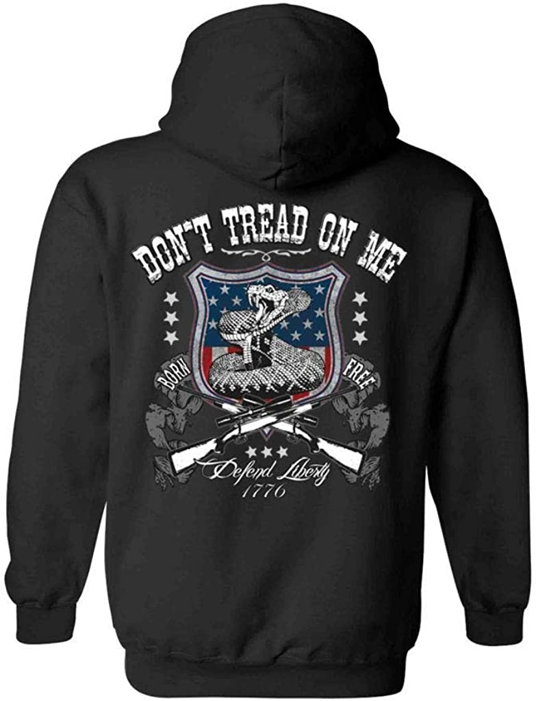 Unisex Zip Up Super-cheap Hoodie USA Flag me Brand new Don't on Defend Tread Liberty