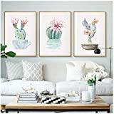 Leinwandbild, Kunst-Dekoration, grünes Pflanzen-Gemälde,