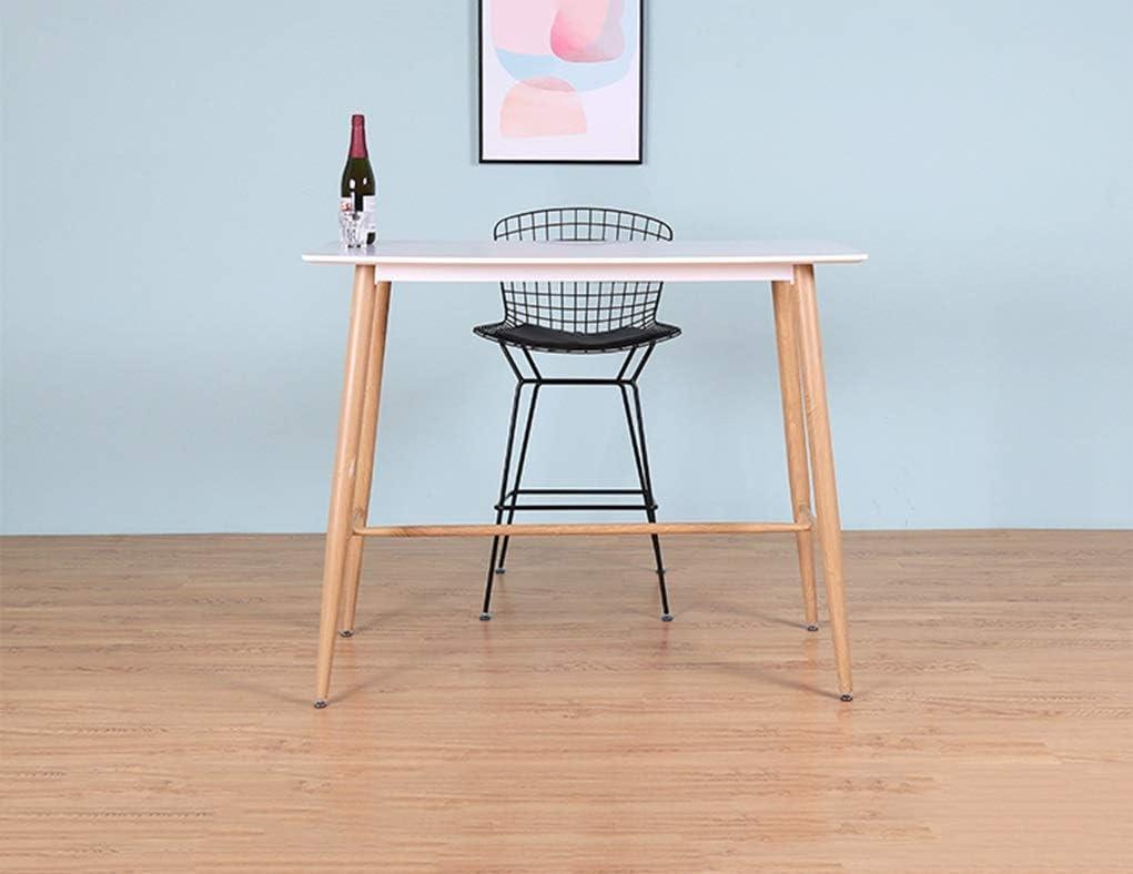 Chaise de Salle à Manger Chaise de bar haut de gamme Chaise de bar Chaise de bar Chaise de café Chaise de café Tabouret de bar en fer forgé Chaise haute (Color : Silver) Black