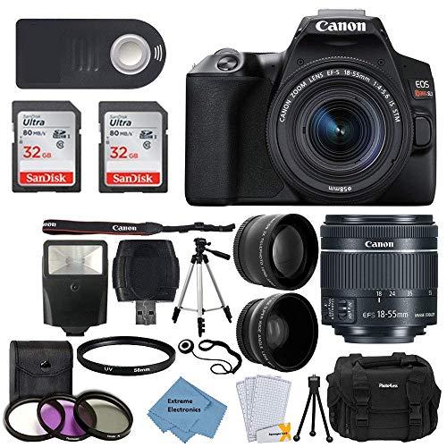 Canon EOS Rebel SL3 Digital SLR Camera (Black) + EF-S 18-55mm f/4-5.6 is STM Lens