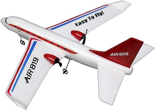 Homeofying 150 m – 200 m 2 Kan  410 mm FX-819 2,4 G 2 Kanal Wurfhand RC Glider Fixed Wing Flugzeug Kinder Spielzeug Neuheit und lustiges Spielzeug für Baby Junge mädchen mit Taschenlampe 1