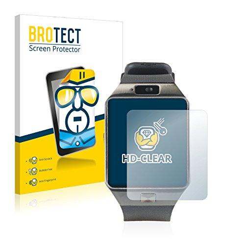 BROTECT Schutzfolie kompatibel mit Simvalley Mobile PW-430.mp PX-4057 (2 Stück) klare Bildschirmschutz-Folie