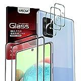 MSOVA 2 Piezas Protector de Pantalla Compatible con Samsung Galaxy A71, 3 Piezas Protector de Lente de Cámara, Cristal Templado de HD Anti-arañazos Compatible con Samsung Galaxy A71