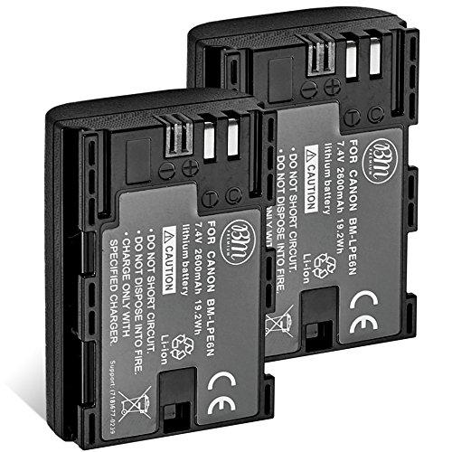 BM Premium 2 LP-E6N Batteries for Canon...