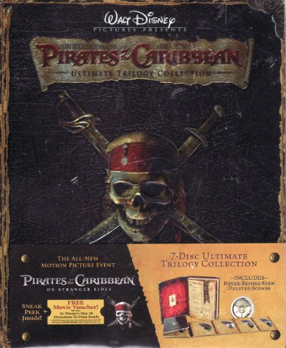 The Pirates of the Carribbean Ultimate Trilogy 7 DISC BLU-RAY Collection Includes All 3 Movies Plus Bonuses