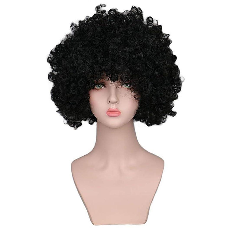 チャールズキージング逆に審判かつら女性150%密度爆発耐熱合成小体積爆発ヘッドショートヘアブラックローズヘアネット
