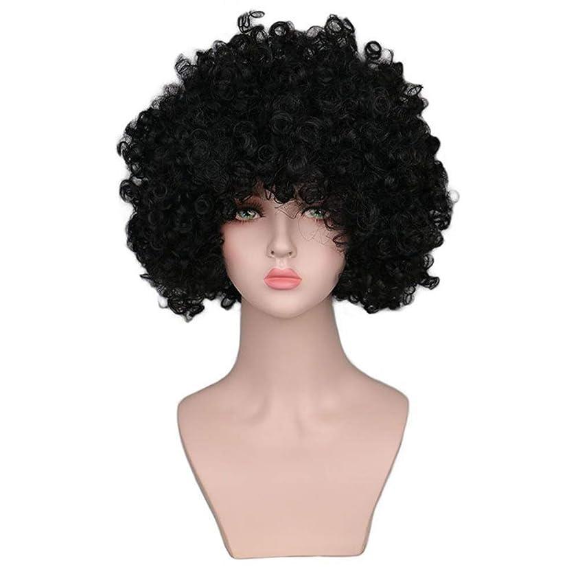 南方の便利さ指かつら女性150%密度爆発耐熱合成小体積爆発ヘッドショートヘアブラックローズヘアネット