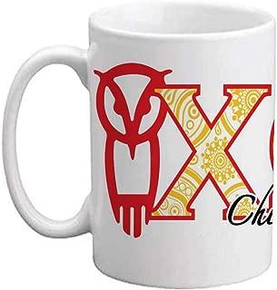 VictoryStore Ceramic Mugs - Chi Omega, Paisley Print Greek Letters Coffee Mug, 15oz