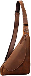Asdfnfa Backpack, Sling Bag Anti-Scratch Waterproof Shoulder Pack for Outdoor Cycling, Running, Hiking, Climbing and Travel (Color : Brown)