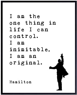 Hamilton Poster - Inspirational Quote Wall Art Decor - Motivational Home Decoration Art Print for Office, Living Room, Den - Gift for Broadway Musical, History Fans - 8x10