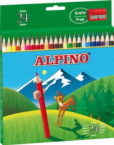 Alpino, al000658, etui, doos met 24 kleurpotloden, verschillende kleuren