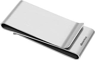 abooxiu Money Clip for Men Wallet Credit Card Holder Front Pocket Metal Slim rfid Engraved Bifold Personalized m Clip