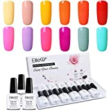 Elite99 Esmalte Semipermanente UV LED 12pcs Kit Uñas de Gel Pintauñas Esmalte de Uñas Soakoff...