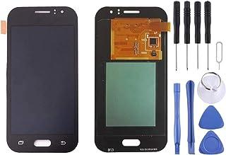 شاشة LCD من Lingland + لوحة لمس لهاتف Galaxy J1 Ace / J110(Black) .الهاتف الخليوي الخلفي يغطي قنوات التنسيب (اللون: أبيض)