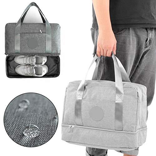 SALALIS Bolsa de Yoga para Gimnasio, Bolsas de Viaje con diseño de Doble Compartimento hermético a Iones positivos para Senderismo al Aire Libre, Viajes, Yoga, Fitness