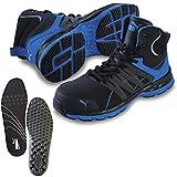 [プーマ] 安全靴 ヴェロシティ 2.0 ブルー 25.0cm 中敷き インソール付セット 63.341.0&20.450.0