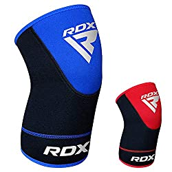 RDX Knee Sleeves are sturdily engineered with durable neoprene material. It offers compressional properties and holds its shape really well. Ideal for Weightlifting, Running, Jogging, Kickboxing, bodybuilding and more. Ensures compression, heat reten...