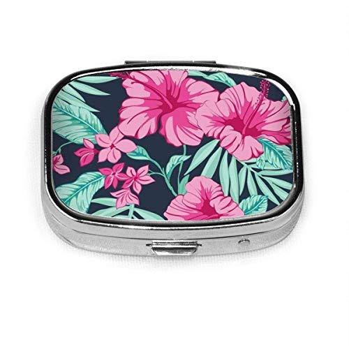 Caja de pastillas cuadrada de moda a mano libre gráfica de moda, soporte para tableta, organizador de bolsillo, caja, caja de decoración