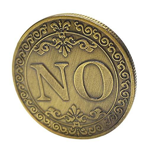 Generic Ja / Nein Poker Coin Gedenkmünze Glück Metall Souvenir Kunst
