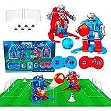JUGUETECNIC │ Soccer Robots interactivos │Juego de Mesa Futbol │ Futbolín para Niños Interactivo | Juguete Robots Teledirigidos │ Campo,...